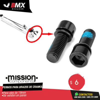 PERNOS PARA BRAZOS DE CRANKS MISSION