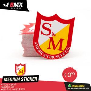 MEDIUM STICKER S&M