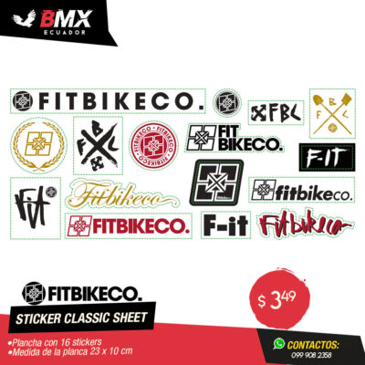 STICKER CLASSIC SHEET FITBIKECO