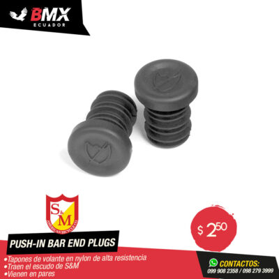 PUSH-IN BAR END PLUGS S&M