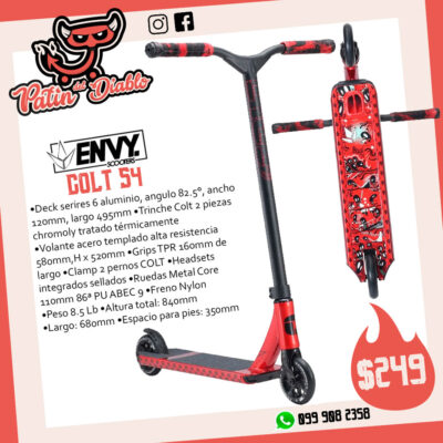 """SCOOTERS ENVY """"COLT S4"""" RED"""