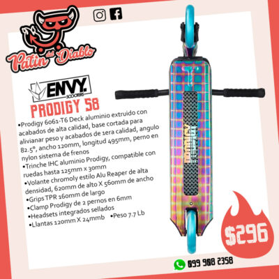 """SCOOTERS ENVY """"PRODIGY S8"""" OIL SLICK"""